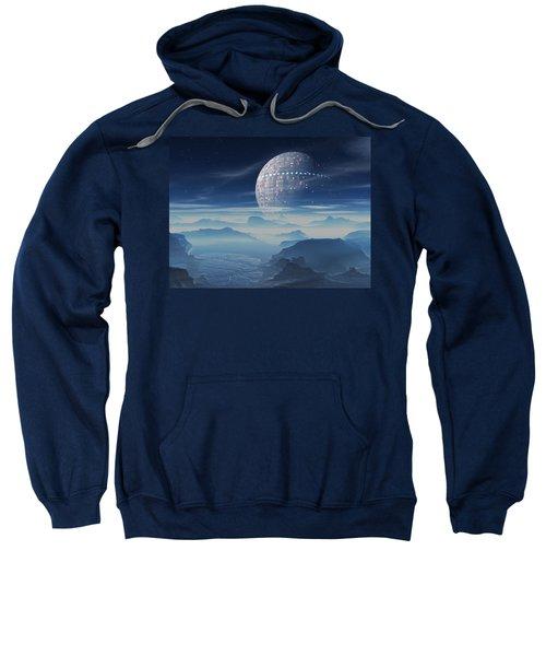 Tranus Alien Planet With Satellite Sweatshirt