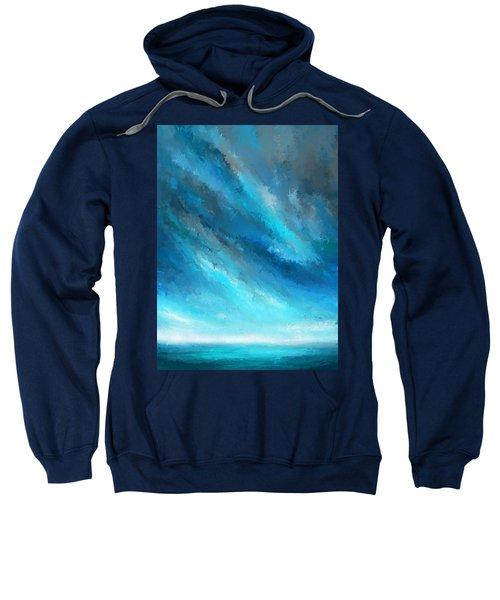 Turquoise Memories - Turquoise Abstract Art Sweatshirt