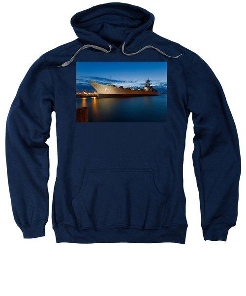Uss Wisconsin At Sunset Sweatshirt