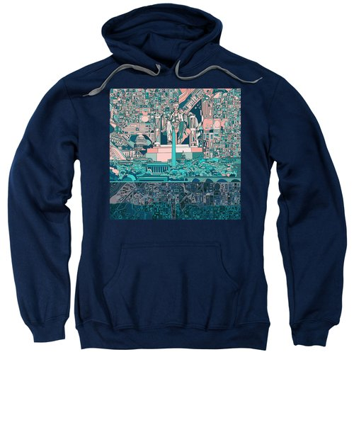 Washington Dc Skyline Abstract 5 Sweatshirt
