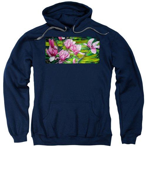 Watercolor Exercise Magnolias Sweatshirt