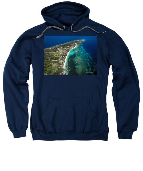 West End Roatan Honduras Sweatshirt by Peggy Hughes