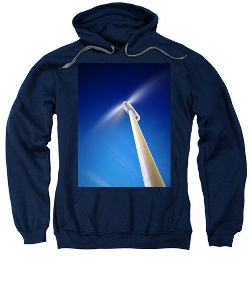 Wind Turbine From Below Sweatshirt