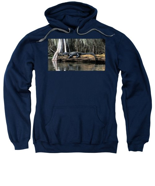 Alligator Sunning Sweatshirt