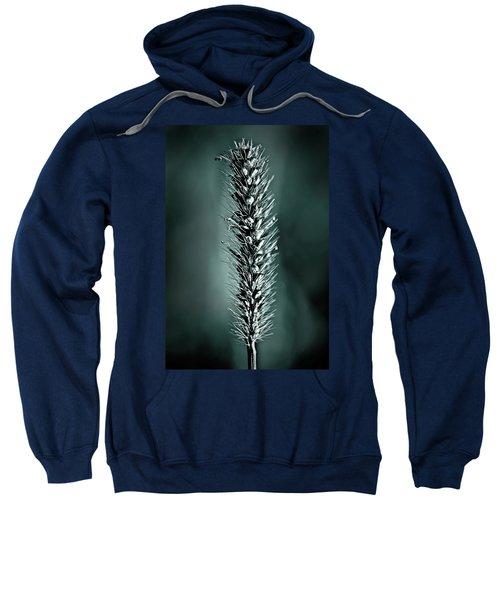 Grass Seedhead In Deep Cyan Sweatshirt