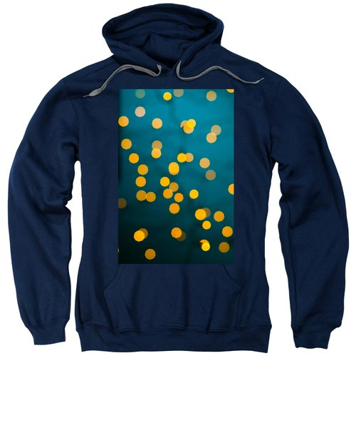 Green Background With Gold Dots  Sweatshirt