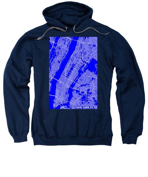 New York City Map Streets Art Print   Sweatshirt