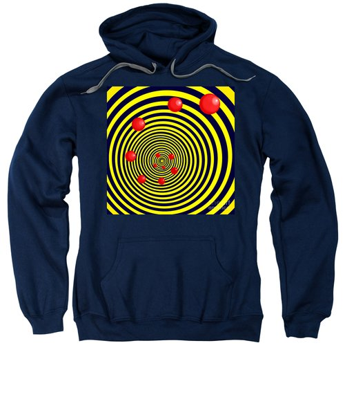 Summer Red Balls With Yellow Spiral Sweatshirt