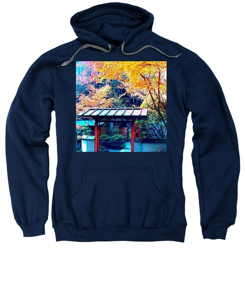 Tea House Gate In The Fall Sweatshirt