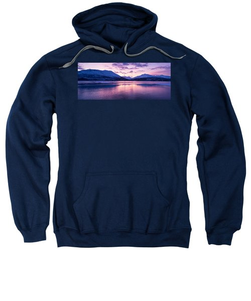 Twilight Above A Fjord In Norway With Beautifully Colors Sweatshirt