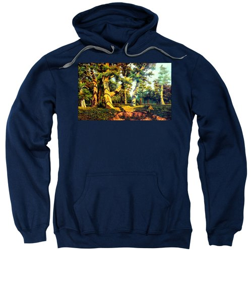 Green Summer-the Oak Forest Sweatshirt