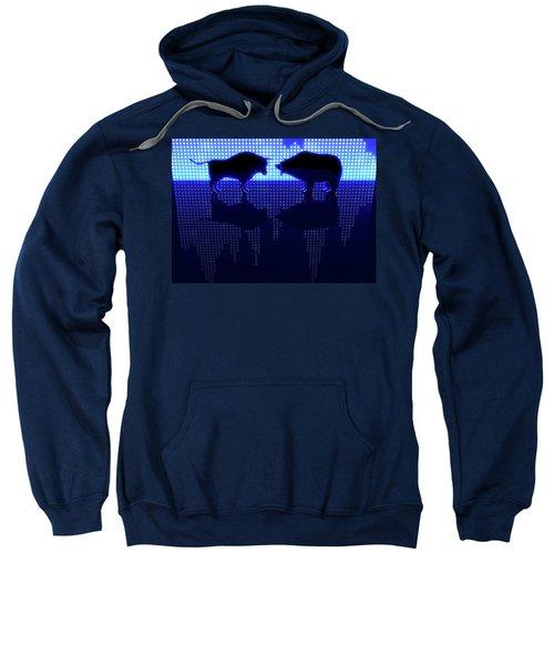Bear And Bull Silhouette Graphs Sweatshirt