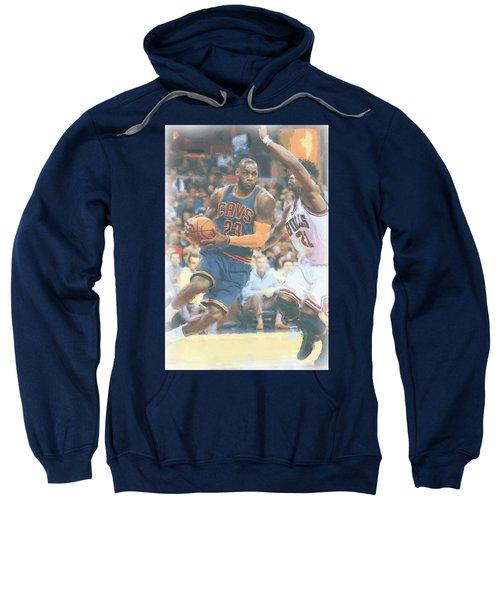 Cleveland Cavaliers Lebron James 2 Sweatshirt by Joe Hamilton