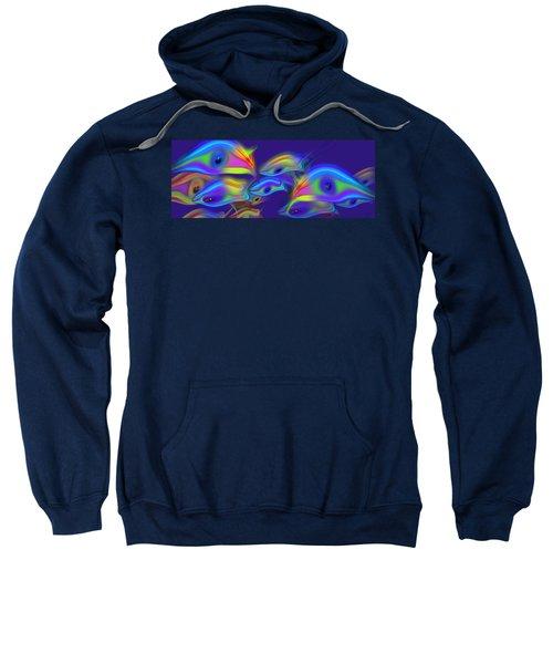 Deep Blue Marine Life Sweatshirt
