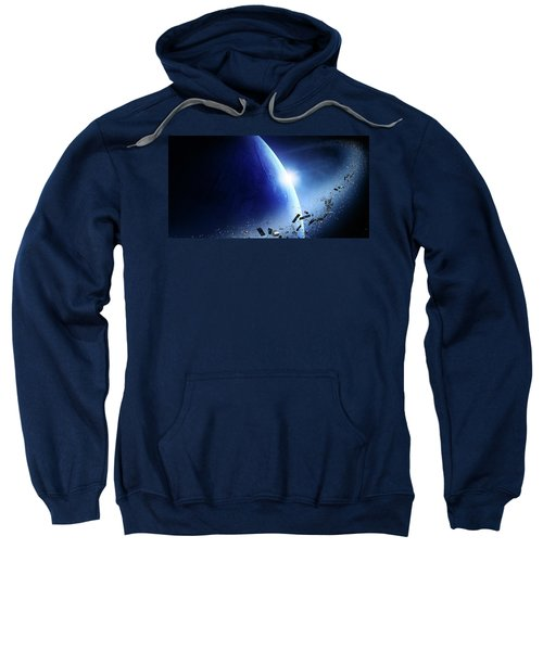Space Junk Orbiting Earth Sweatshirt