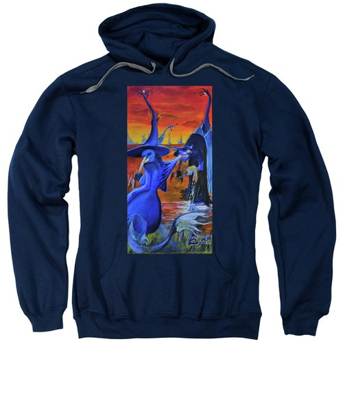 The Cat And The Witch Sweatshirt