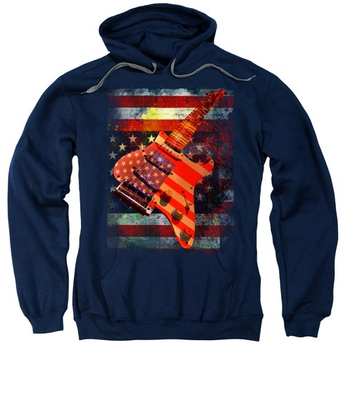 Usa Strat Guitar Music Sweatshirt