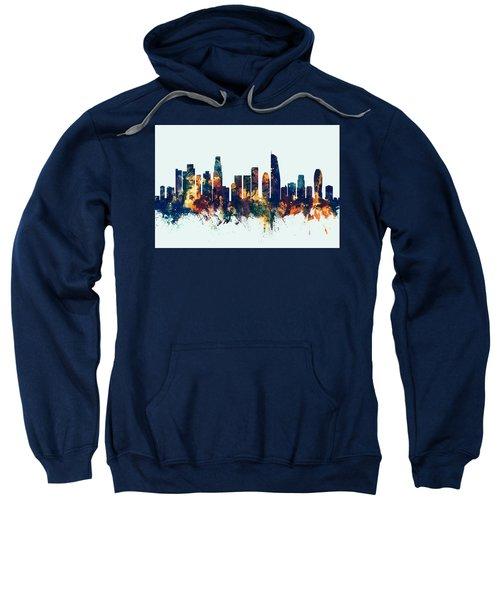 Los Angeles California Skyline Sweatshirt by Michael Tompsett