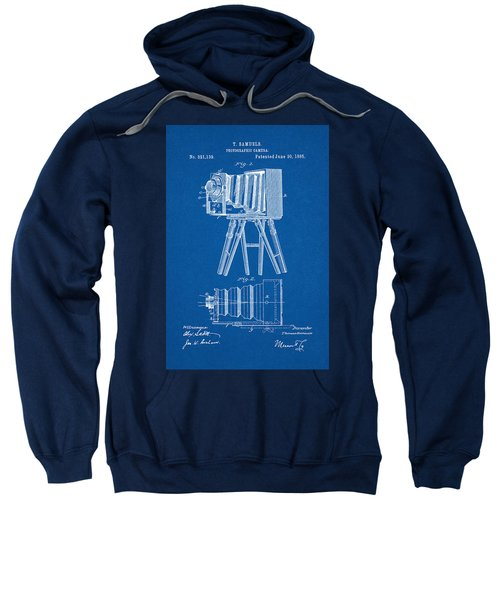 1885 Camera Us Patent Invention Drawing - Blueprint Sweatshirt