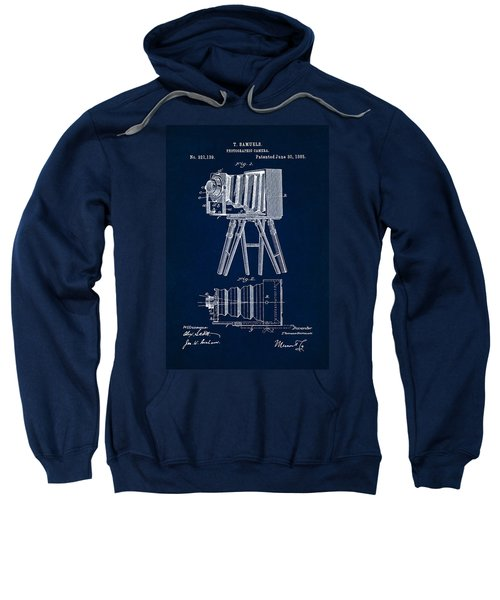 1885 Camera Us Patent Invention Drawing - Dark Blue Sweatshirt