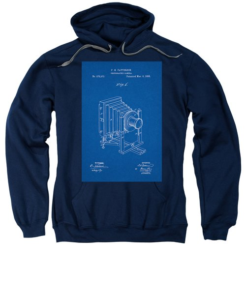1888 Camera Us Patent Invention Drawing - Blueprint Sweatshirt