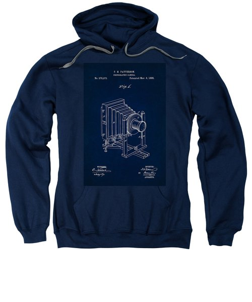 1888 Camera Us Patent Invention Drawing - Dark Blue Sweatshirt