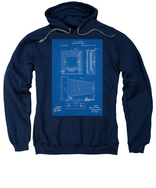 1891 Camera Us Patent Invention Drawing - Blueprint Sweatshirt