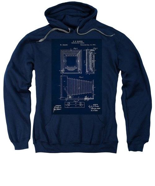 1891 Camera Us Patent Invention Drawing - Dark Blue Sweatshirt