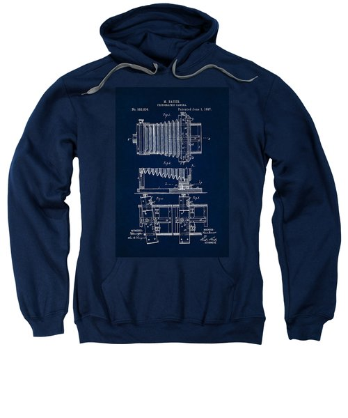 1897 Camera Us Patent Invention Drawing - Dark Blue Sweatshirt