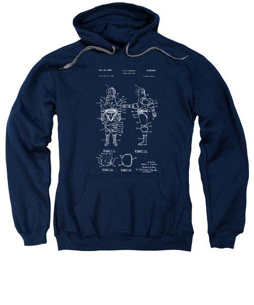 1968 Hard Space Suit Patent Artwork - Blueprint Sweatshirt