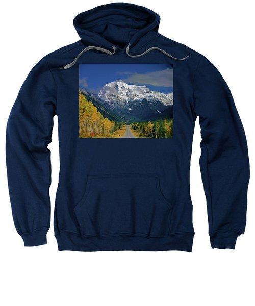 1m2441-h Mt. Robson And Yellowhead Highway H Sweatshirt