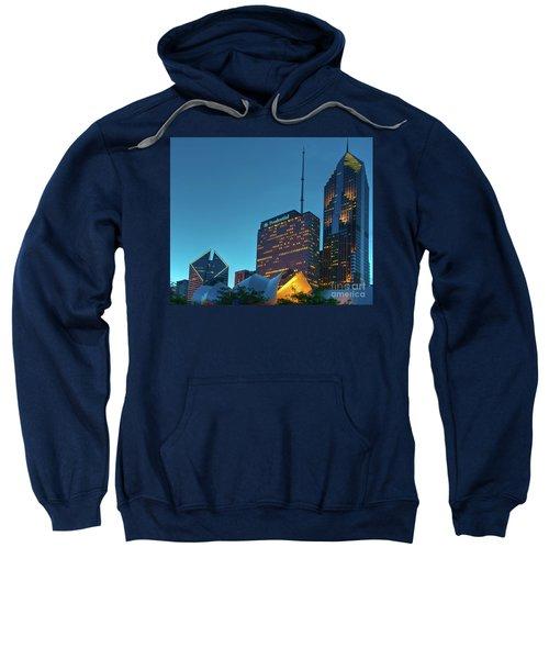A View From Millenium Park At Dusk Sweatshirt