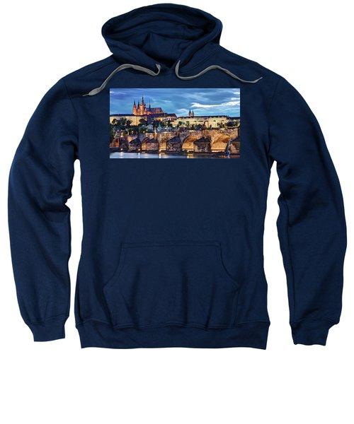 Charles Bridge And Prague Castle / Prague Sweatshirt