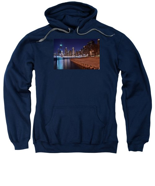 Chicago From The North Sweatshirt by Frozen in Time Fine Art Photography