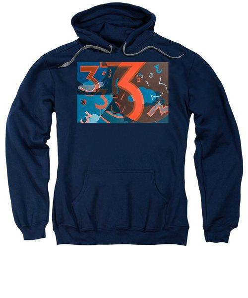 3 In Blue And Orange Sweatshirt