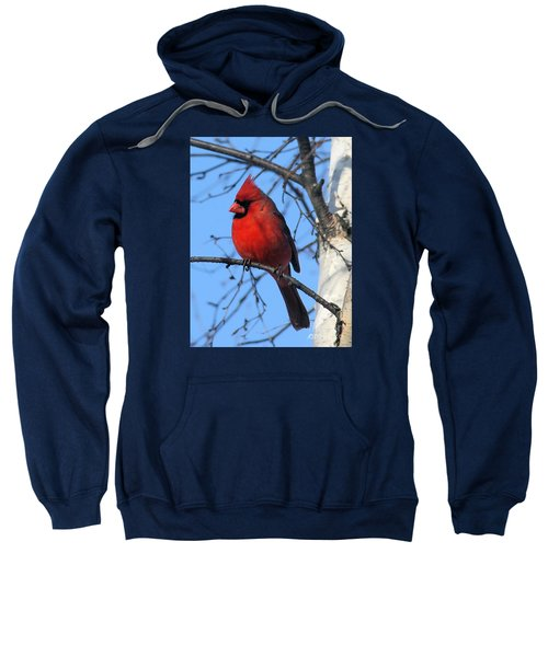 Sweatshirt featuring the photograph Northern Cardinal by Ricky L Jones