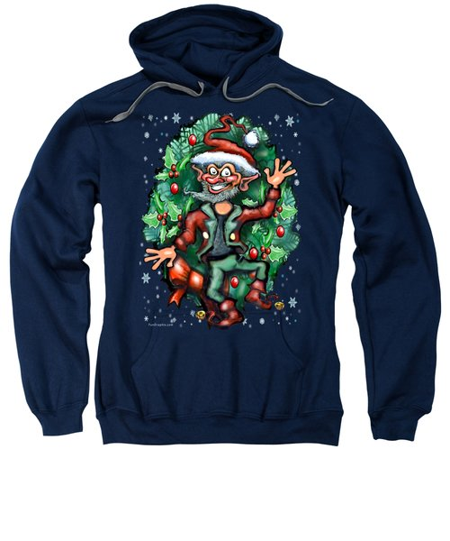 Christmas Elf Sweatshirt by Kevin Middleton