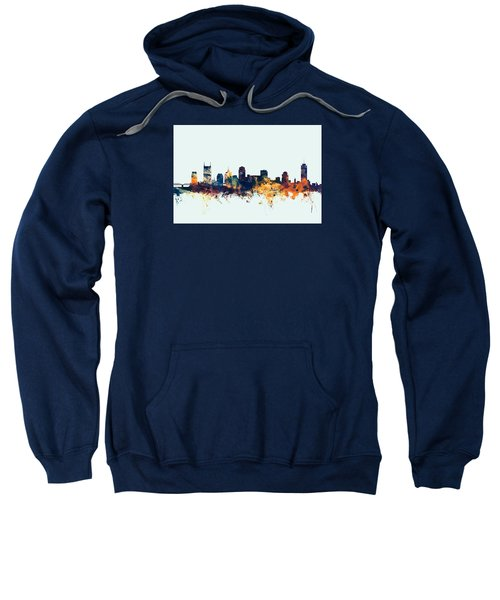Nashville Tennessee Skyline Sweatshirt by Michael Tompsett