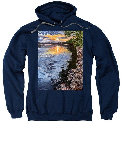A Fraser River Sunset Sweatshirt