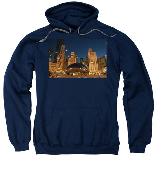 A View From Millenium Park At Night Sweatshirt
