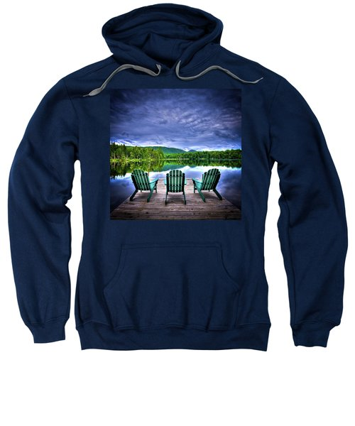 Sweatshirt featuring the photograph A View Of Serenity by David Patterson