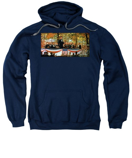 Abraham Lincoln And Stephen A Douglas Debating At Charleston Sweatshirt