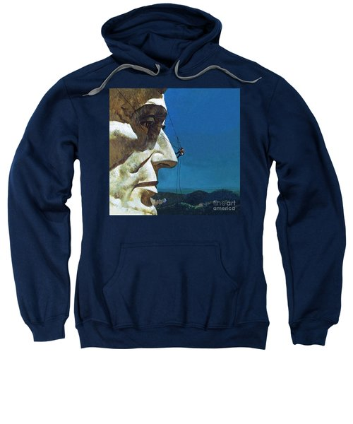 Abraham Lincoln's Nose On The Mount Rushmore National Memorial  Sweatshirt