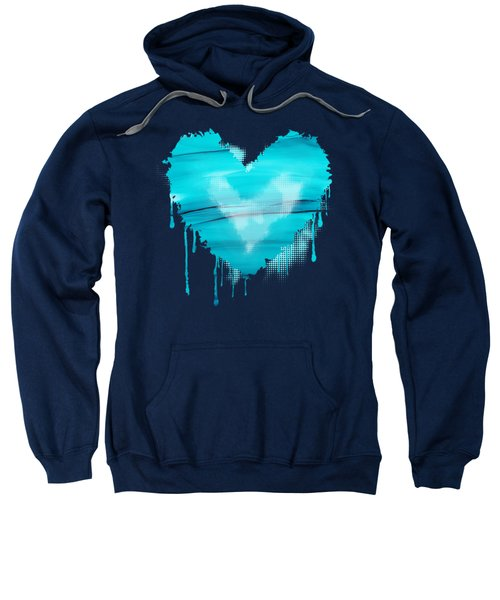 Adrift In A Sea Of Blues Abstract Sweatshirt