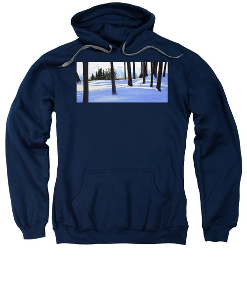 Afternoon In Snowy Mountains Sweatshirt
