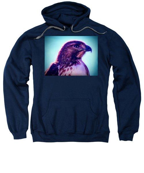 Ak-chin Red-tailed Hawk Portrait Sweatshirt