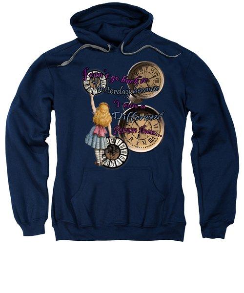 Alice In Wonderland Travelling In Time Sweatshirt