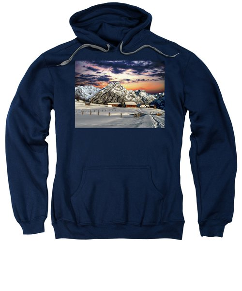 Alpine Winter Scene Sweatshirt