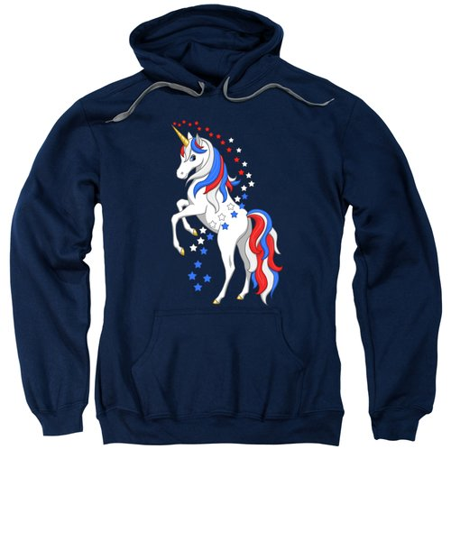 American Flag Patriotic Unicorn Sweatshirt