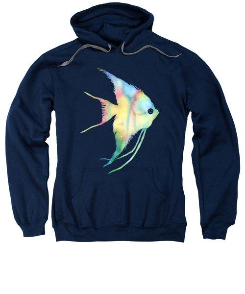 Angelfish I - Solid Background Sweatshirt by Hailey E Herrera